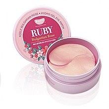 Profumi e cosmetici Patch occhi in idrogel con rubino e rosa bulgara - Petitfee & Koelf Ruby & Bulgarian Rose Eye Patch