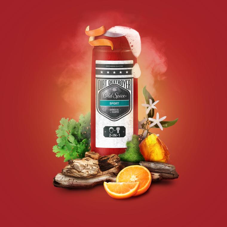 Gel doccia shampoo - Old Spice Odor Blocker Sport Shower Gel — foto N2