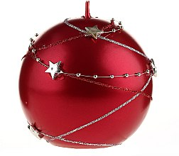 Profumi e cosmetici Candela decorativa rossa, 10x10cm - Artman Christmas Garland