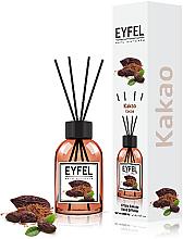 """Profumi e cosmetici Diffusore di aromi """"Cacao"""" - Eyfel Perfume Reed Diffuser Cocoa"""