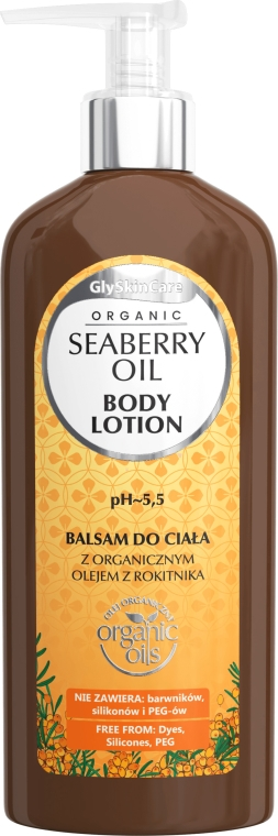 Lozione corpo, con olio di olivello spinoso biologico - GlySkinCare Organic Seaberry Oil Body Lotion — foto N1