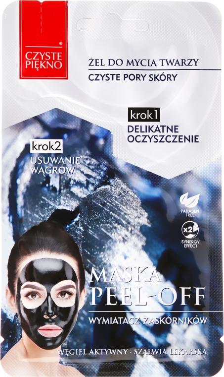 """Maschera viso """"Gel detergente +maschera esfoliante """" - Czyste Piekno Peel Off Mask"""