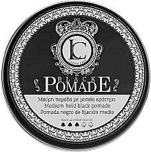 Profumi e cosmetici Pomata nera per lo styling dei capelli per uomo - Lavish Care Black Pomade Medium Hold Black