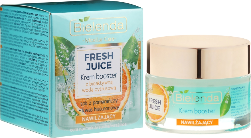 Crema idratante con acqua di agrumi - Bielenda Fresh Juice Booster