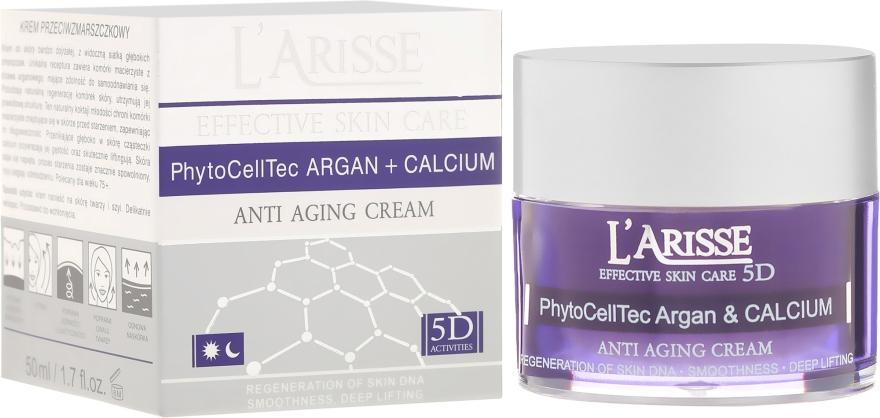 Crema antirughe con cellule staminali di argan e calcio BIO 75+ - Ava Laboratorium L'Arisse 5D Anti-Wrinkle Cream Stem PhytoCellTech Argan + Calcium