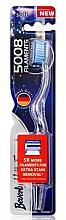 Profumi e cosmetici Spazzolino da denti morbido, blu - Beverly Hills Formula 5008 Filament Multi-Colour Toothbrush