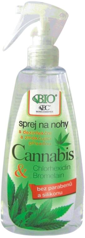 Spray piedi - Bione Cosmetics Cannabis Foot Spray With Triethyl Citrate And Bromelain