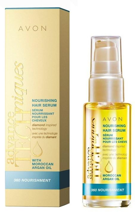 """Siero nutriente per capelli """"Cura completa"""" - Avon Advance Techniques 360 Nourish Moroccan Argan Oil Leave-In Treatment"""
