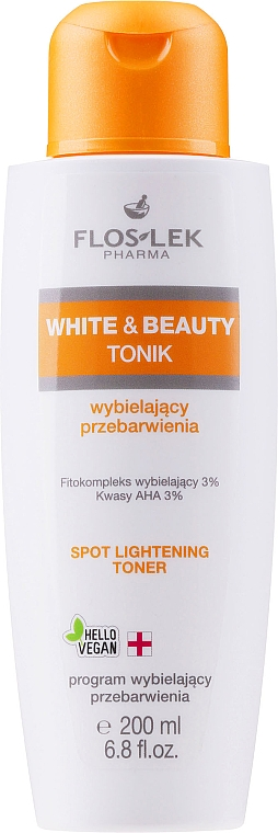 Tonico viso schiarente con acidi AHA - Floslek White & Beauty AHA Spot Lightening Toner