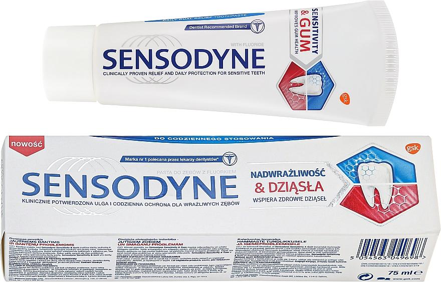 Dentifricio per denti sensibili - Sensodyne Sensitivity & Gum