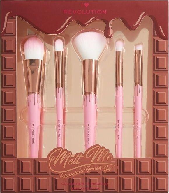 Set pennelli trucco - I Heart Revolution Chocolate Brush Set