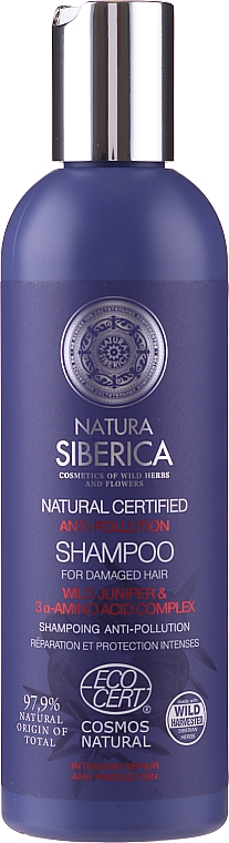 Shampoo per capelli fini e doppie punte - Natura Siberica Anti-Pollution Shampoo
