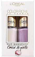 Profumi e cosmetici Set - L'Oreal Paris Color Riche Nail Polish (nail/polish/2x5ml) (2 x 5 ml)