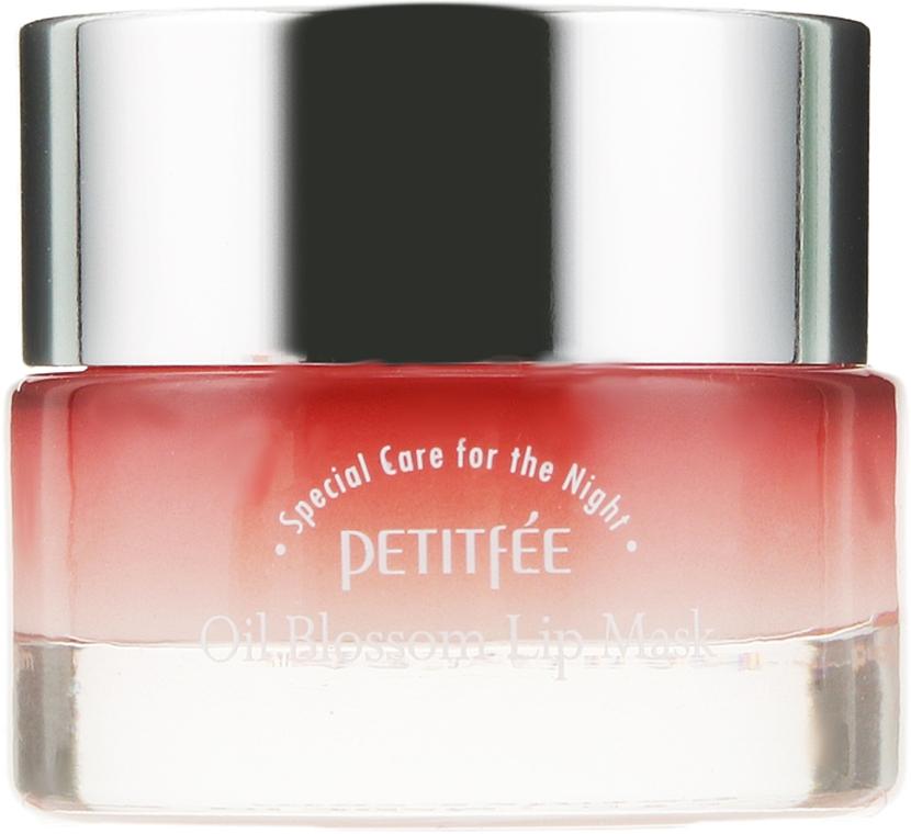 Maschera labbra da notte con olio di camelia e vitamina E. - Petitfee&Koelf Oil Blossom Lip Mask