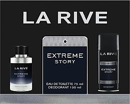 Profumi e cosmetici La Rive Extreme Story - Set (edt/75ml+deo/150ml)