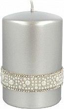 Profumi e cosmetici Candela decorativa in argento, 7x10cm - Artman Crystal Opal Pearl