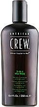 Profumi e cosmetici Shampoo 3-in-1 - American Crew Tea Tree 3-in-1 Shampoo, Conditioner and Body Wash