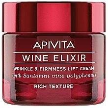 Profumi e cosmetici Crema lifting antirughe con polifenoli di vini di Santorini - Apivita Wine Elixir Wrinkle And Firmness Lift Cream Rich Texture