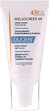 Profumi e cosmetici Crema leggera anti-pigmentazione per pelli da normali a miste - Ducray Melascreen UV Light Cream SPF 50+
