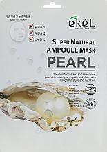 Profumi e cosmetici Maschera in tessuto all'estratto di perla - Ekel Super Natural Ampoule Mask Pearl