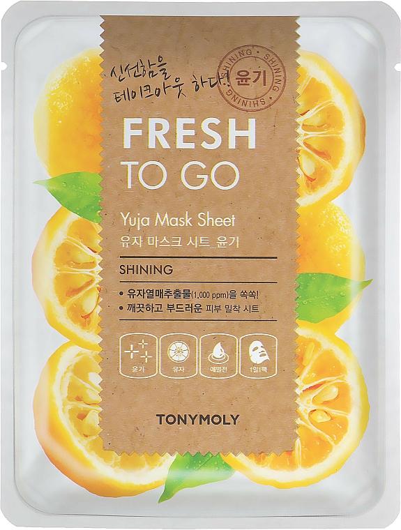 Maschera in tessuto agli agrumi yuzu per una pelle radiosa - Tony Moly Fresh To Go Mask Sheet Yuja