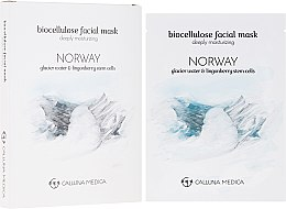 "Profumi e cosmetici Maschera in tessuto ""Norvegia"" - Calluna Medica Norway Deeply Moisturizing Biocellulose Facial Mask"