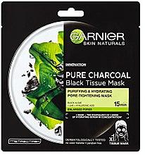 "Profumi e cosmetici Maschera viso in tessuto ""Carbone detergente"" - Garnier Pure Charcoal Tissue Mask"