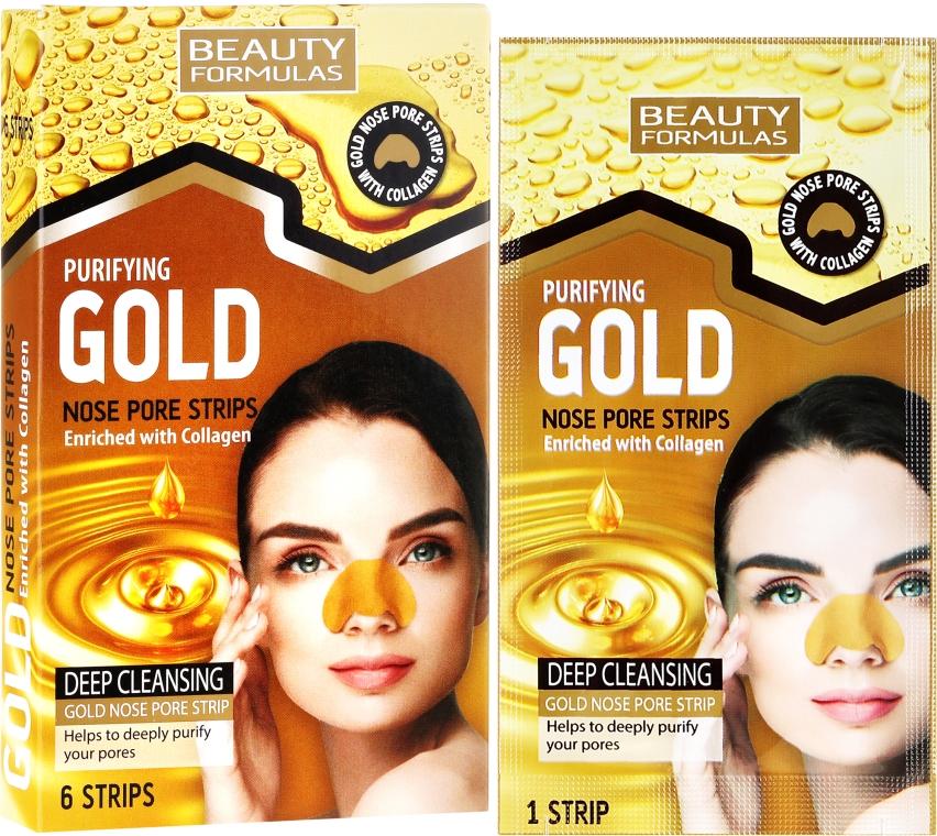 Strisce detergenti per il naso - Beauty Formulas Purifying Gold Nose Pore Strips