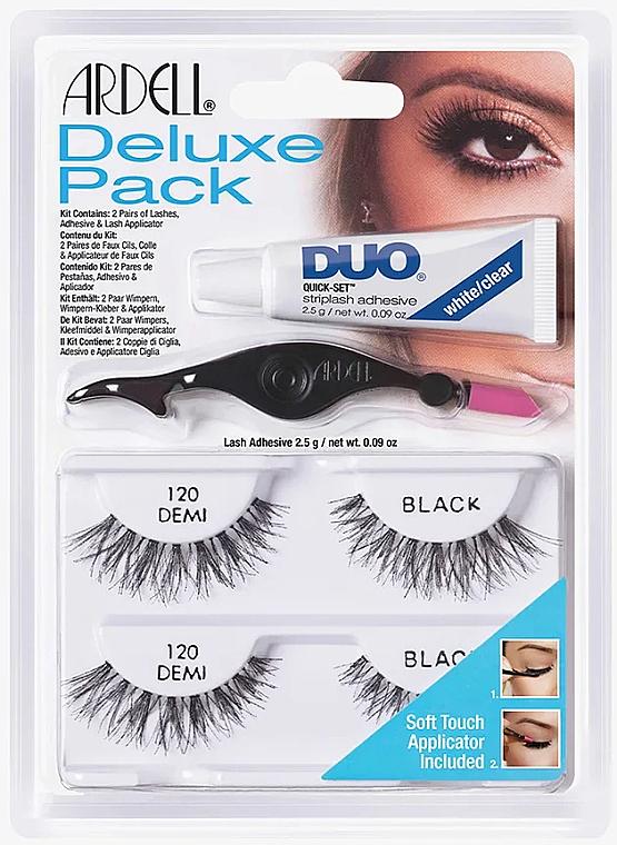 Set ciglia finte - Ardell Deluxe Pack 120 Demi Black