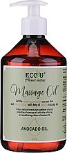 Profumi e cosmetici Olio per massaggi - Eco U Avocado Massage Oil
