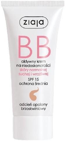BB crema viso, SPF 15 - Ziaja BB-Cream Opalony Brzoskwiniowy