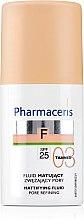 Profumi e cosmetici Fondotinta fluido opacizzante - Pharmaceris F Mattifying Fluid Pore Refining SPF 25