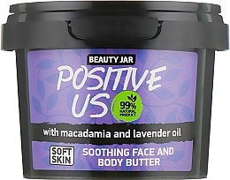 "Profumi e cosmetici Burro lenitivo per viso e corpo ""Positive Us"" - Beauty Jar Soothing Face And Body Butter"