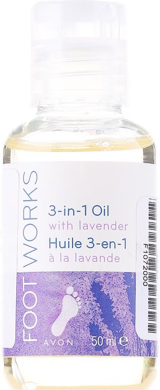 Olio piedi idratante alla lavanda 3 in 1 - Avon Foot Works 3-in-1 Oil With Lavender