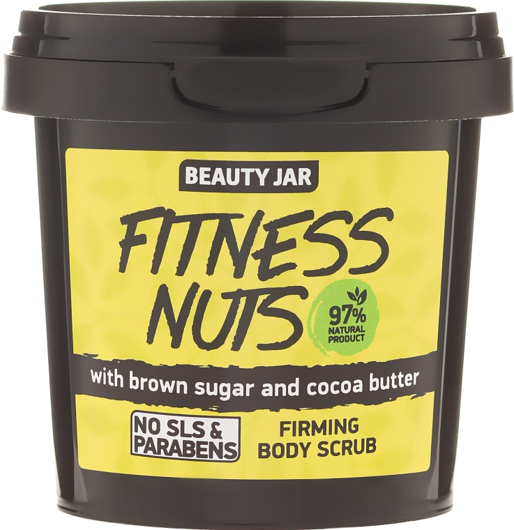 Scrub corpo rassodante Fitness Nuts - Beauty Jar Firming Body Scrub