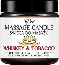 """Profumi e cosmetici Candela da massaggio """"Whisky e tabacco"""" - VCee Massage Candle Whiskey & Tobacco Coconut Oil & Shea Butter"""