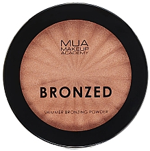 Profumi e cosmetici Cipria abbronzante - MUA Bronzed Shimmer Bronzing Powder Solar Shimmer