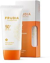 Profumi e cosmetici Crema solare - Frudia Tone Up Base Sun Cream SPF50