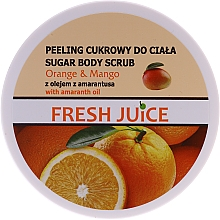Profumi e cosmetici Scrub zucchero per corpo - Fresh Juice Orange and Mango