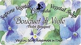"Profumi e cosmetici Sapone naturale ""Bouquet di violet"" - Florinda Sapone Vegetale Vegetal Soap Violet Bouquet"