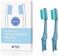 Profumi e cosmetici Testine di ricambio per spazzolino, setole medie, blu - TIO Toothbrush Medium