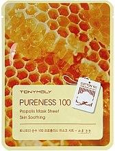 Profumi e cosmetici Maschera in tessuto con estratto di propoli - Tony Moly Pureness 100 Propolis Mask Sheet