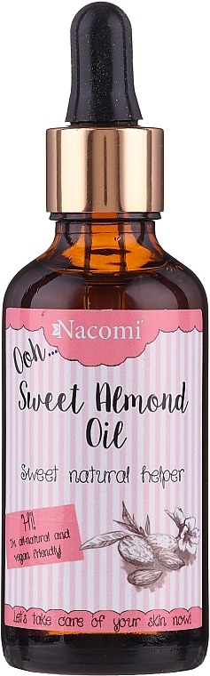 Olio di mandorle dolci, con pipetta - Nacomi Sweet Almond Oil