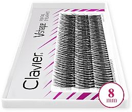 Profumi e cosmetici Ciglia finte, 8 mm. - Clavier V-Shape Eyelashes