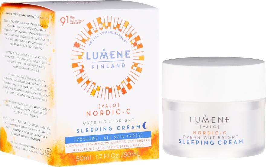 Crema rigenerante con vitamina C da notte - Lumene Valo [Light] Overnight Bright Vitamin C Sleeping Cream