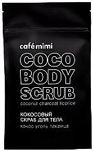 """Profumi e cosmetici Scrub corpo al cocco """"Cocco, carbone di legna, liquirizia"""" - Cafe Mimi Coco Body Scrub Coconut Charcoal Licorice"""