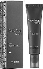 Profumi e cosmetici Gel tonico contorno occhi - Oriflame NovAge Men Eye Rescue Gel