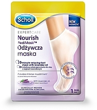 Profumi e cosmetici Maschera piedi all'olio di lavanda - Scholl Expert Care Foot Mask