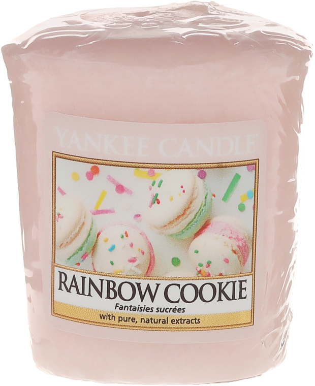 "Candela profumata ""Biscotti"" - Yankee Candle Rainbow Cookie Votive Candle"