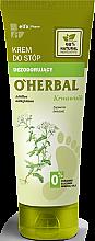 Profumi e cosmetici Crema piedi rinfrescante con estratto di achillea - O'Herbal Deodorizing Foot Cream With Yarrow Extract
